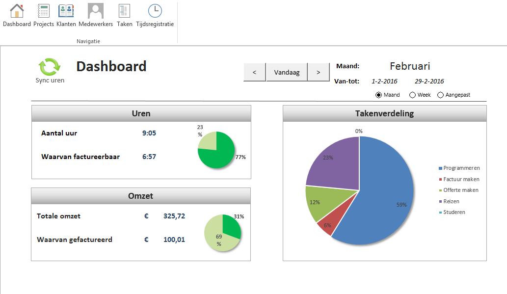 Urenregistratie in Excel voor ZZP